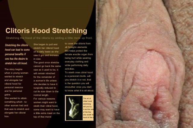 clitoral hood stretching article